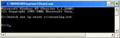 How to Reset the TCP in Windows XP Vista and Windows 7