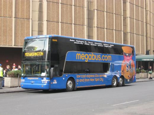 A double-decker Megabus.