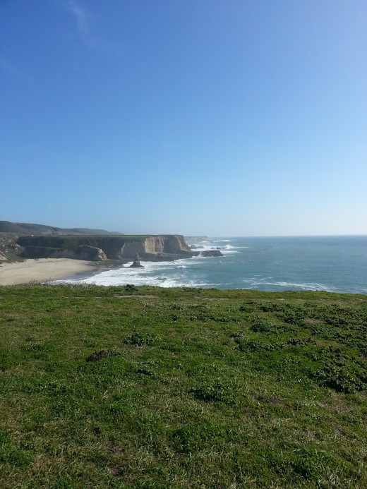 Nearby Davenport offers scenic view of cliffs. Grassy areas are perfect for a beach side picnic.