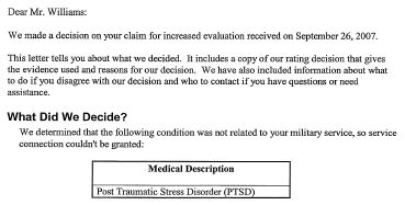 PTSD Denial May 2008