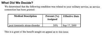 July 2008 PTSD Approval