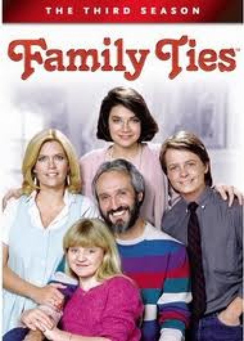 Family Ties stars Michael J. Fox and first aired in the 1980's. The show dealt with everyday family issues.