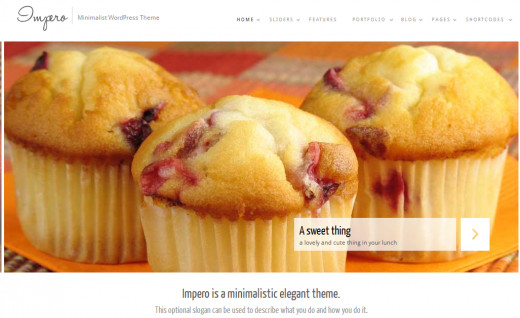 Impero Culinary WordPress Theme