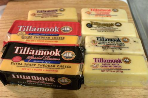 Many varieties of Tillamook Cheese