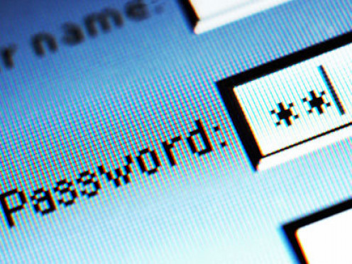 User name and password
