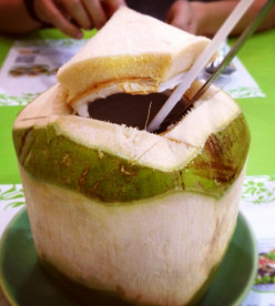 Coconut juice would do, too.
