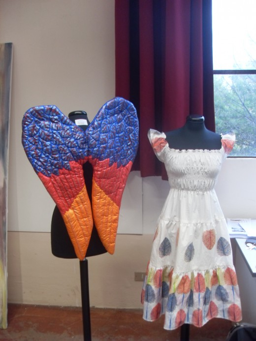 Phoenix Wings and Feather Dress