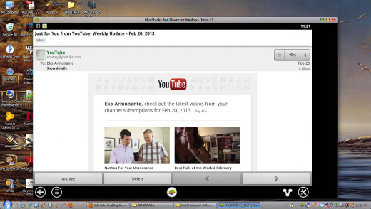 Gmail to read Youtube's newsletter