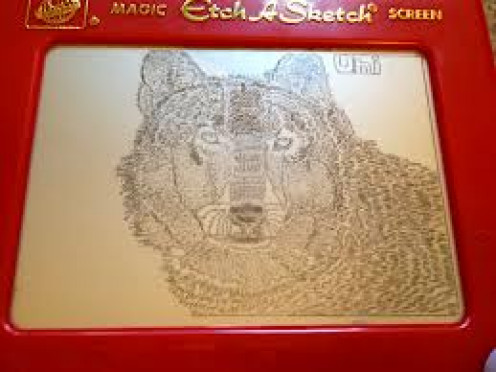 The Etch-A-Sketch was an amazing invention that let you draw pictures and erase them by  shaking the tablet. They still sell them now but they are even better now than they were in the 60's.
