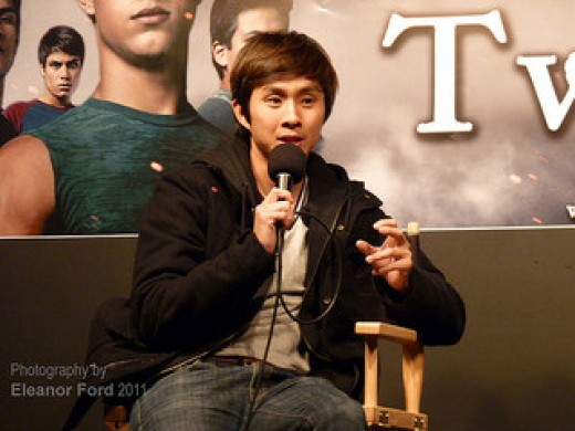 Justin Chon at the Twilight Saga promotion in 2011.