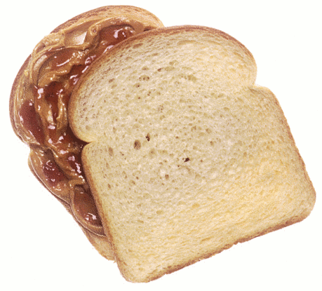 My top favorite comfort food - a peanut butter and jelly sandwich!