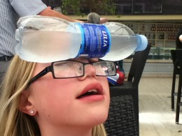 """We bought water each day for 1 euro a bottle.  Don't forget to specify """"still"""" if you don't want carbonated water. It was almost completely frozen and we had to wait to drink it. While you wait, use it to cool your forehead."""
