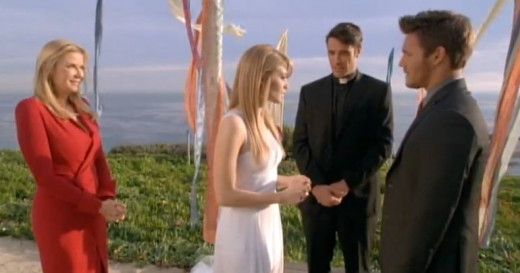 Brooke has planned an elopement re-enactment of Hope and Liam's Italian wedding.  Will they end up man and wife?