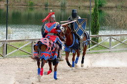 Jousting is just one of the many entertainment choices at the Texas Renaissance Festival, a top tourist draw in October.