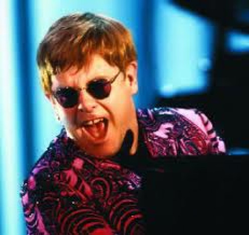 Elton John was born in England but famous all over the world for his music which featured amazing vocals and instrumentals.