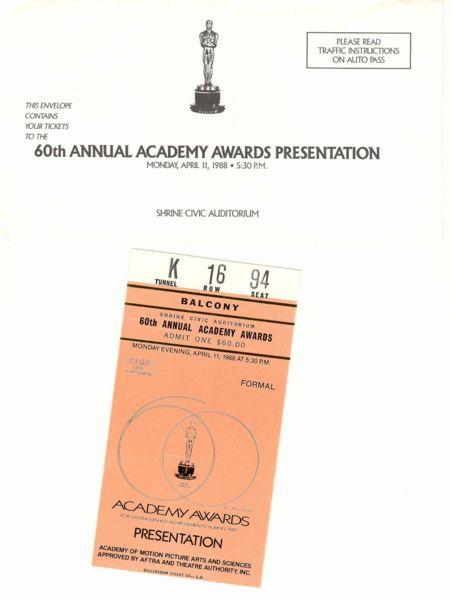 Academy Award Ticket