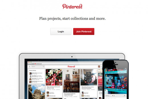 Login Screen for Pinterest