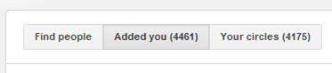 Google Plus Find People Tab