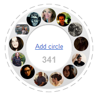 An example of a shared circle on Google Plus