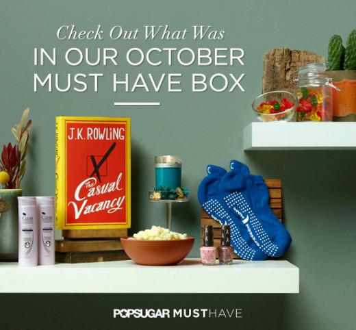 The October 2012 POPSUGAR box.