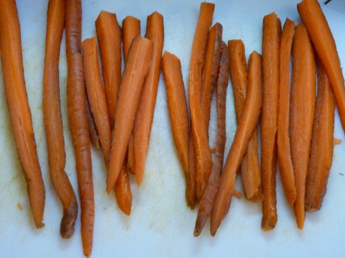 Cut Carrots Lengthwise