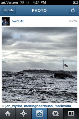 My Instagram picture of rough waters in Long Island Sound in the fall of 2012.  Follow me on Instagram @bwd316