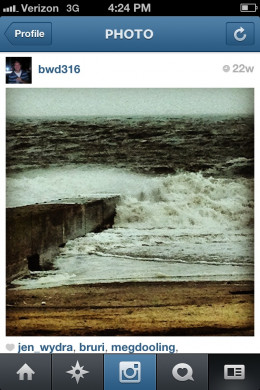 Instagram photo: rough waters in Long Island Sound fall 2012. follow me on Instagram @bwd316