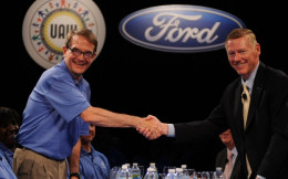 Bob King and Alan Mulally
