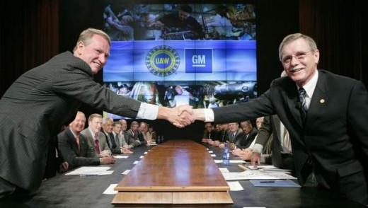 GM's Rick Waggoner and UAW President Ron Gettelfinger