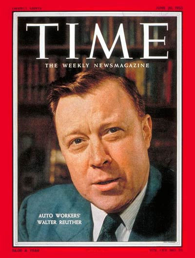 Walter P. Reuther, President of United Auto workers