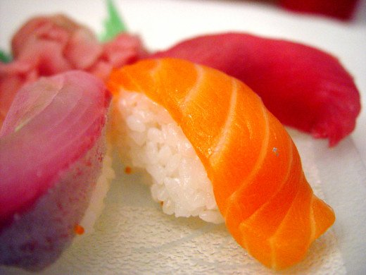 Sushi. It's not my favorite but isn't it gorgeous?