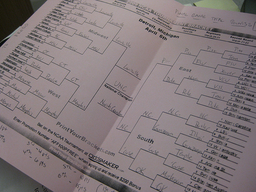 A filled-out bracket