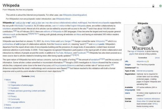 Wikipedia is an easy-to-access information gold mine. Use it to ignite your creativity.