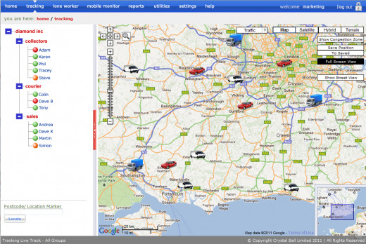 Crystal Ball's Web Based Vehicle Tracking System