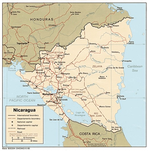 physical maps of nicaragua. makeup physical map of