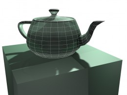 Teapot created in 3DSmax