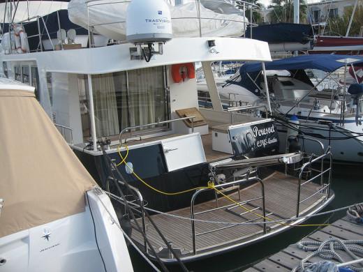 Beautiful yachts in Latchi Yacht Harbor