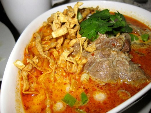 Khao Soi, a staple in Northern Thailand.