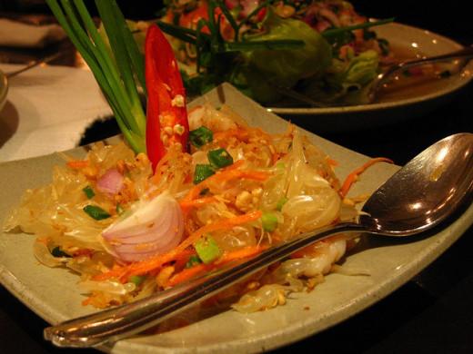 Som Tum, a papaya salad from the Northeastern Region.