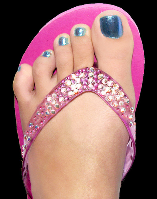 Bling your flip-flops with Swarovski crystals. CC BY 2.0, via Flickr.