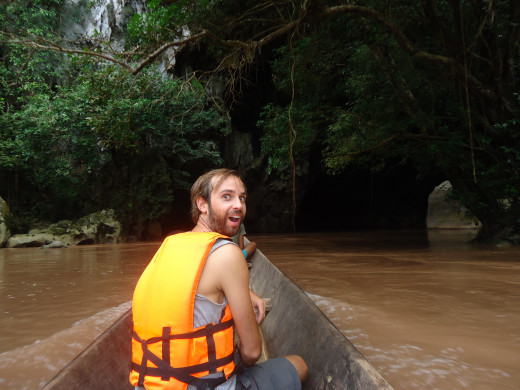 Coming out of the other side of the Kong Lo Cave
