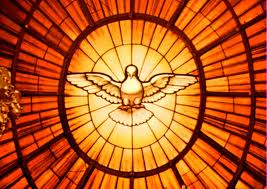 Here the Holy spirit is shown as a symbol and it appears as a dove. The dove symbol is a symbol of peace, so God spirit is supposed to be peaceful and loving towards humanity.