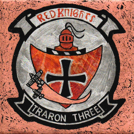 Red Knights traron three military patch replica