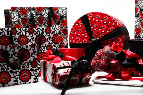 Wrap the gift neatly in fresh paper or gift bags.