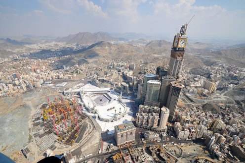 A view of Abraj Al Bait with construction nearly complete.