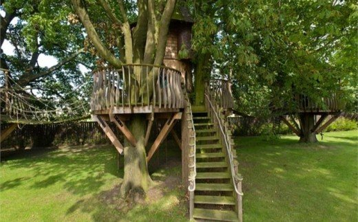 Treehouses on Gogar Castle Grounds