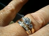My engagement and wedding rings.