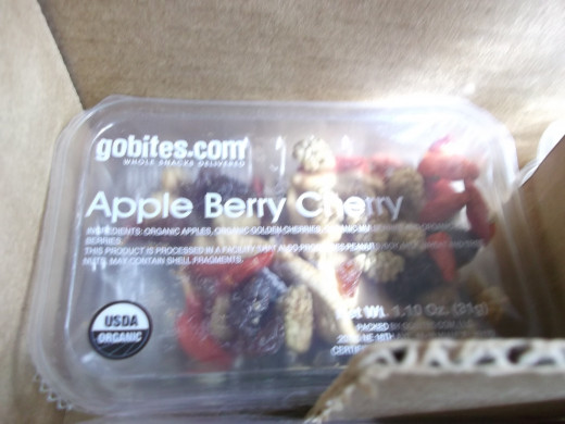 A GoBites snack - Apple Cherry Berry.