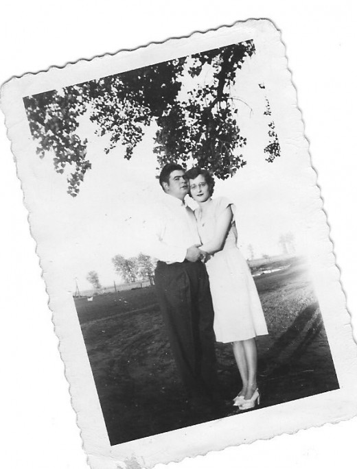 Bill & Anna Stabnow early in their marriage.
