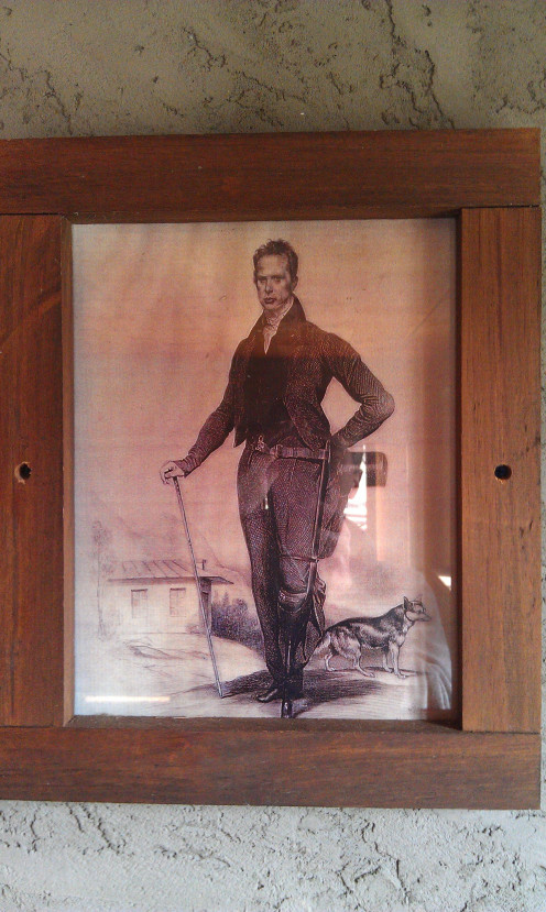 Portrait of Charles Beckwith in the Beckwith School at the Trail of Faith.